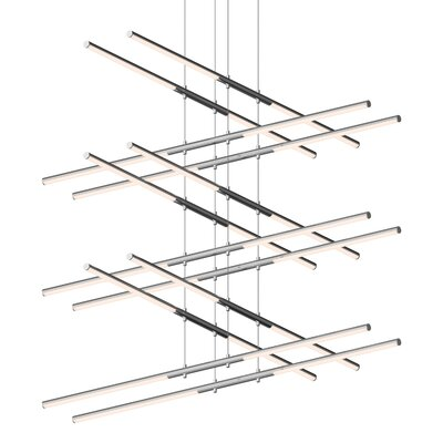 Tik-Tak Stack LED Geometric Pendant Finish: Polished Chrome