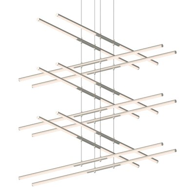 Tik-Tak Stack LED Geometric Pendant Finish: Satin Nickel