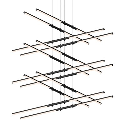 Tik-Tak Stack LED Geometric Pendant Finish: Satin Black