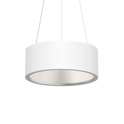 Tromme 1-Light LED Drum Pendant Finish: Satin White