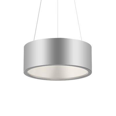 Tromme 1-Light LED Drum Pendant Finish: Bright Satin Aluminum