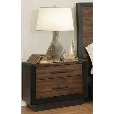 Berghoff 2 Drawer Nightstand