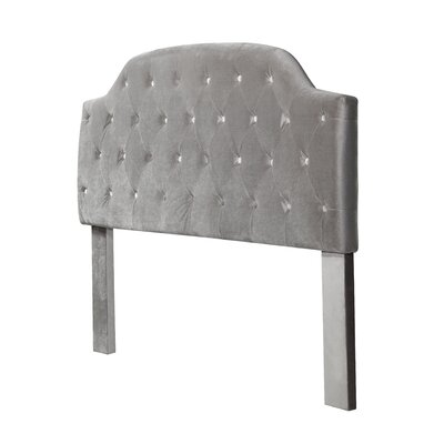 Mason Freda Upholstered Panel Headboard Upholstery: Gray, Size: Queen