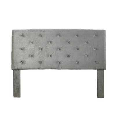 Cheadle Murray Upholstered Panel Headboard Upholstery: Slate, Size: Queen