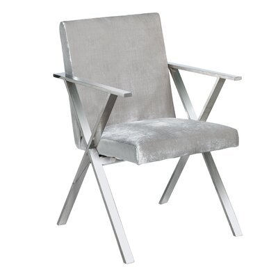 Janicki Julian Upholstered Dining Chair Upholstery: Gray
