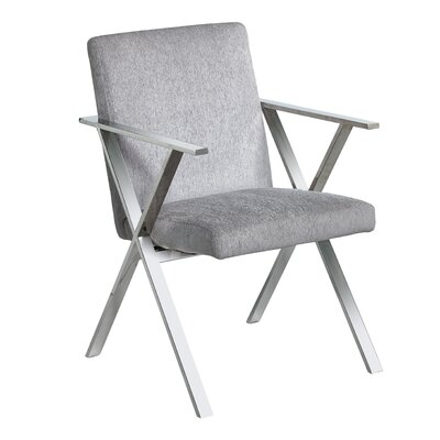 Janicki Julian Upholstered Dining Chair Upholstery: Platinum