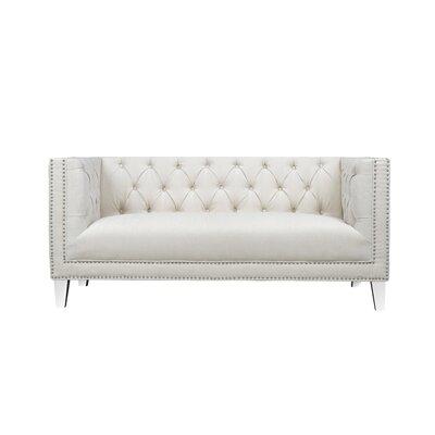 Luxullian Citrus Loveseat Upholstery: Pearl