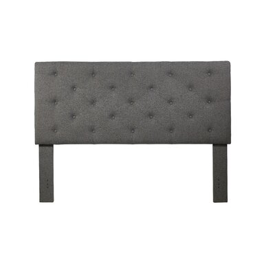 Cheadle Murray Upholstered Panel Headboard Upholstery: Gray, Size: King