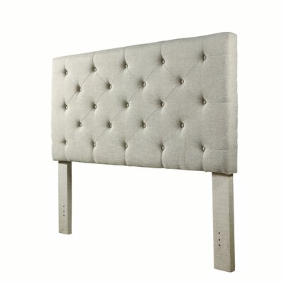 Cheadle Murray Upholstered Panel Headboard Upholstery: Beige, Size: King
