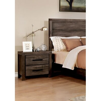 Pettigrew 2 Drawer Nightstand