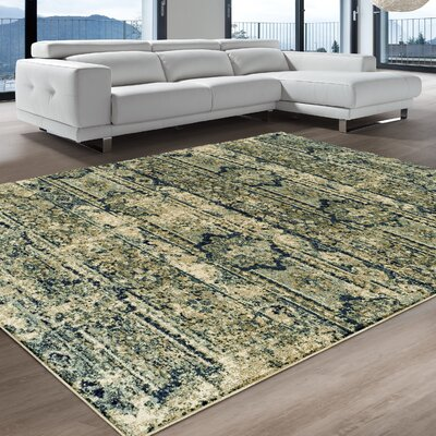Albata Blue Area Rug Rug Size: Rectangle 5 x 8