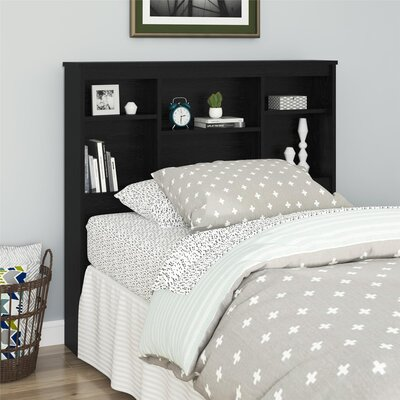 Warriner Twin Bookcase Headboard Color: Black Oak