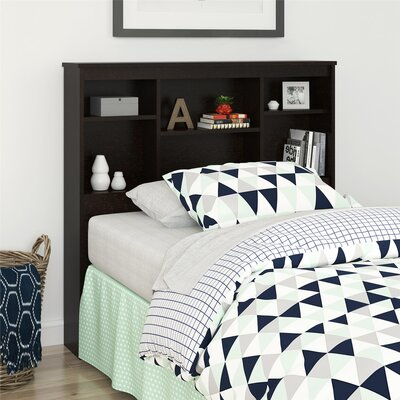 Warriner Twin Bookcase Headboard Color: Espresso