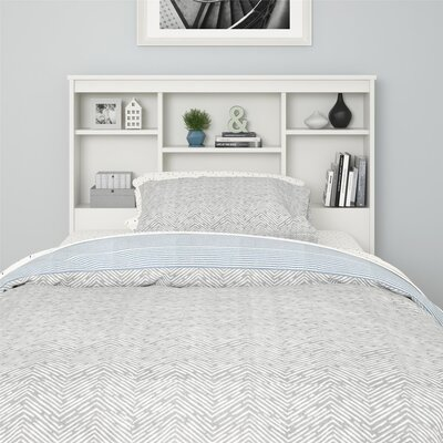 Warriner Twin Bookcase Headboard Color: White