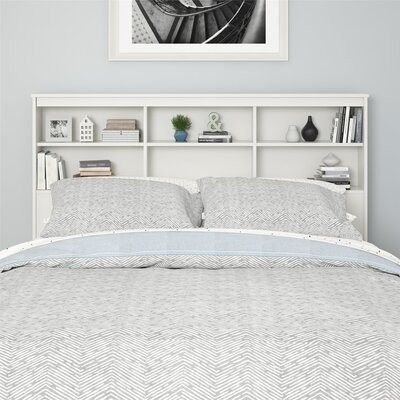 Warriner Bookcase Headboard Color: White