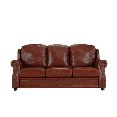 Hintz Leather Sofa Upholstery: Light Brown