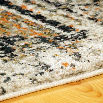 Albata Cream Area Rug Rug Size: Runner 27 x 8