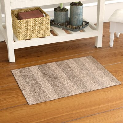 Verne 100% Cotton Wide Cut Reversible Bath Rug Size: 40 H X 24 W, Color: Natural