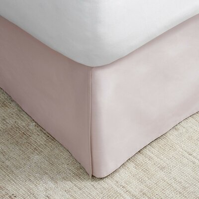 Bed Skirt Size: Twin, Color: Blush
