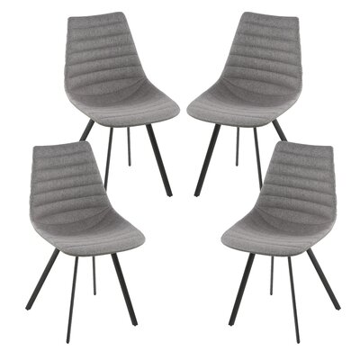 Matsumura Upholstered Dining Chair Upholstery Color: Dark Gray