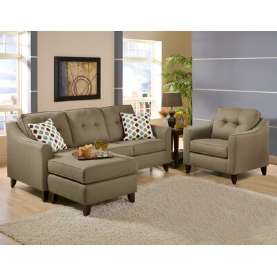 Gatsas Tufted 2 Piece Living Room Set