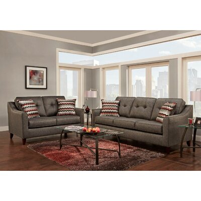 Silverberg Tufted 2 Piece Living Room Set