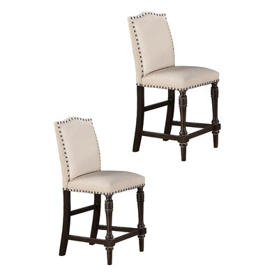 Fortunat 24 Bar Stool (Set of 2) Color: Espresso