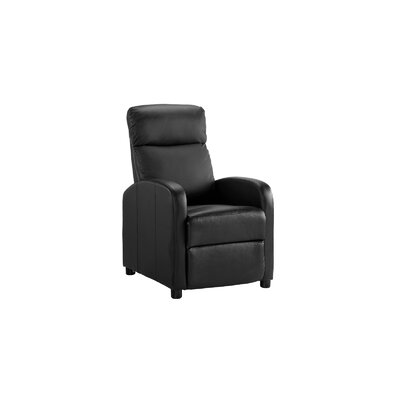 Mangum Manual Recliner Upholstery: Black