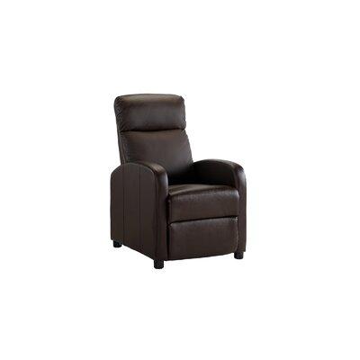 Mangum Manual Recliner Upholstery: Brown