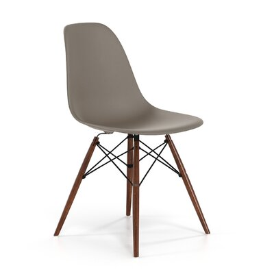 Brook Modern Solid Wood Dining Chair Color: Taupe Walnut