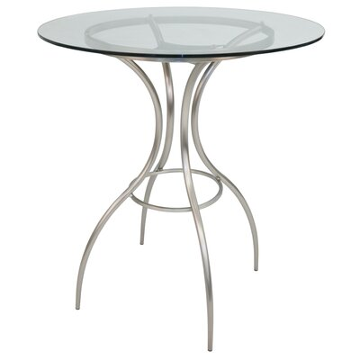 Donath Pub Table Color: Brushed, Size: 39.62
