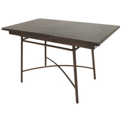 Schurda Pub Table Color: Bronze Autumn Rust/Black Ebony