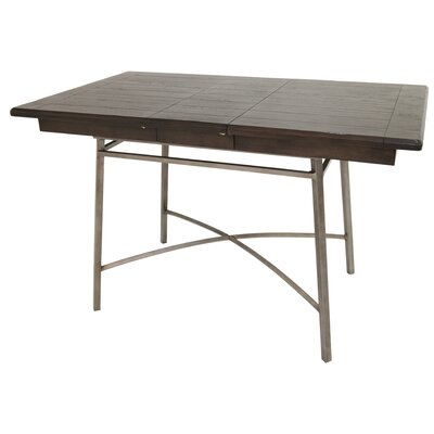 Schurda Pub Table Color: Rustic Silver/Black Ebony