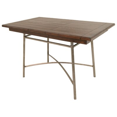 Schurda Pub Table Color: Rustic Silver/Brown Russet Cordovan
