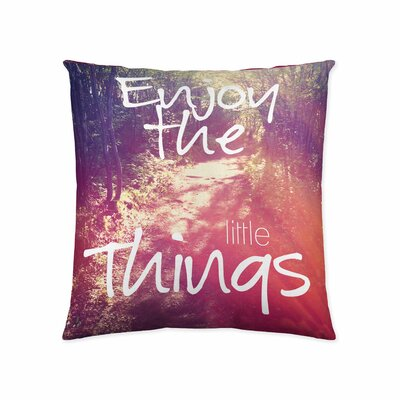 Enjoy The Little Things Cotton Throw Pillow
