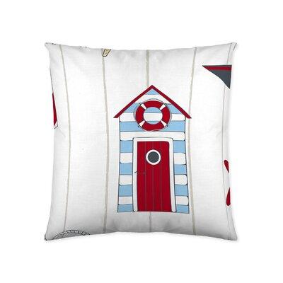Lifeguard Shack Cotton Throw Pillow