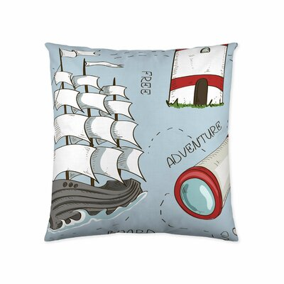 Sailboat Cotton Throw Pillow