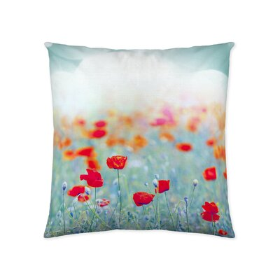 Flower Patches Decorative Cotton Throw Pillow