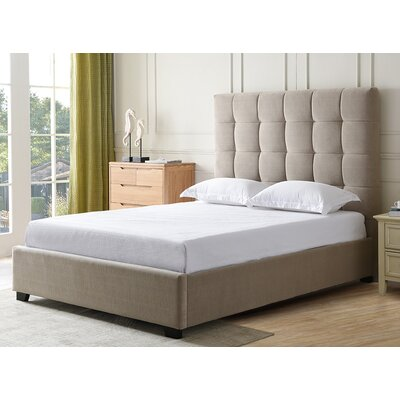 Drews Upholstered Panel Bed Color: Paramount Khaki, Size: King