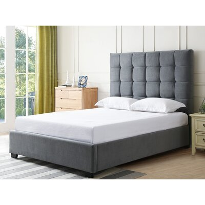 Drews Upholstered Panel Bed Color: Paramount Slate, Size: Queen