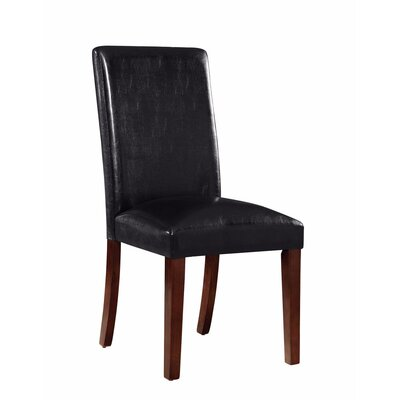 Hoerner Genuine Leather Upholstered Dining Chair