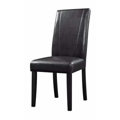 Pomonok High-Back Parson Genuine Leather Upholstered Dining Chair