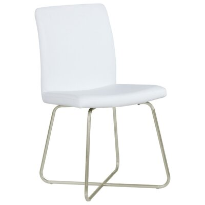 Hambree Armless Genuine Leather Upholstered Dining Chair Upholstery Color: White