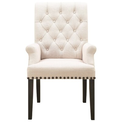 Kells Parson Side Upholstered Dining Chair Upholstery Color: Beige