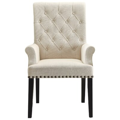 Kells Parson Side Upholstered Dining Chair Upholstery Color: Cream
