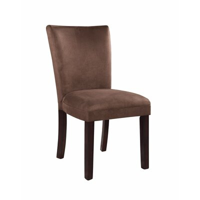 Erkerd Parson Upholstered Dining Chair Upholstery Color: Brown