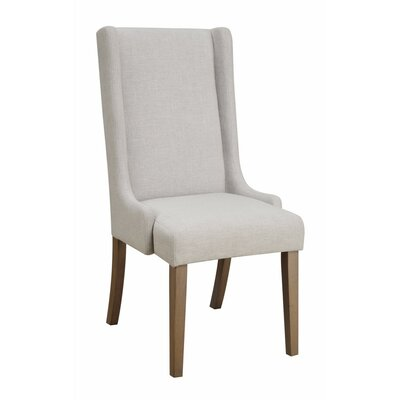 Reinhardt Wingback Upholstered Dining Chair Upholstery Color: Light Gray