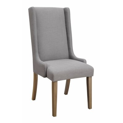 Reinhardt Wingback Upholstered Dining Chair Upholstery Color: Gray