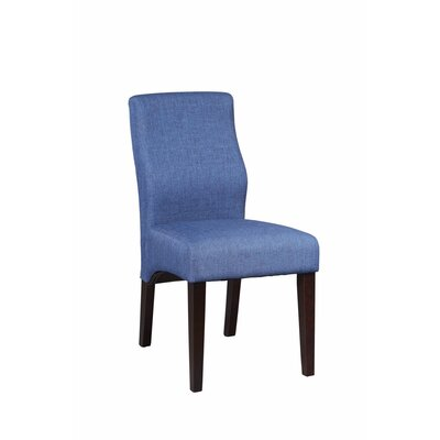 Gippetti Sturdy Upholstered Dining Chair Upholstery Color: Blue