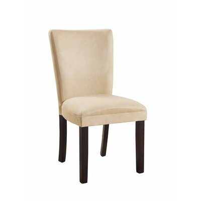 Hoekstra Modish Side Genuine Leather Upholstered Dining Chair